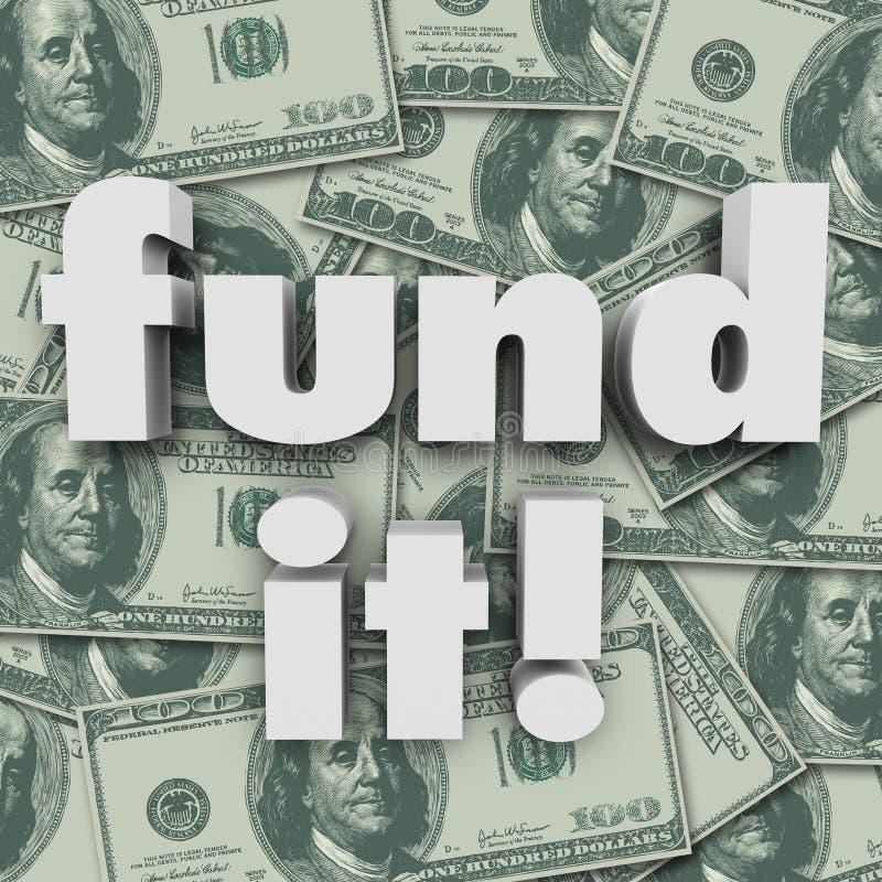Financie-o financiamento Start-Up do financiamento do fundo do dinheiro ilustração do vetor