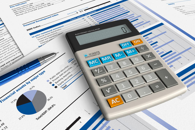 Financieel analyseconcept royalty-vrije illustratie