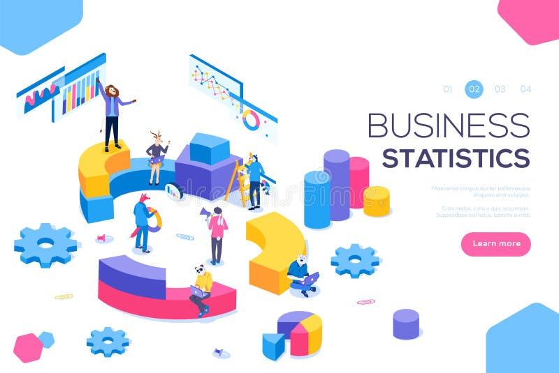 Financieel beleidsconcept Raadplegend voor bedrijfprestaties, analyseconcept Statistieken en zaken royalty-vrije illustratie