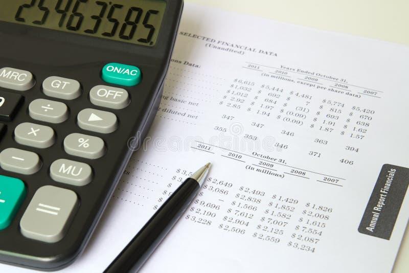Financieel blad stock afbeeldingen