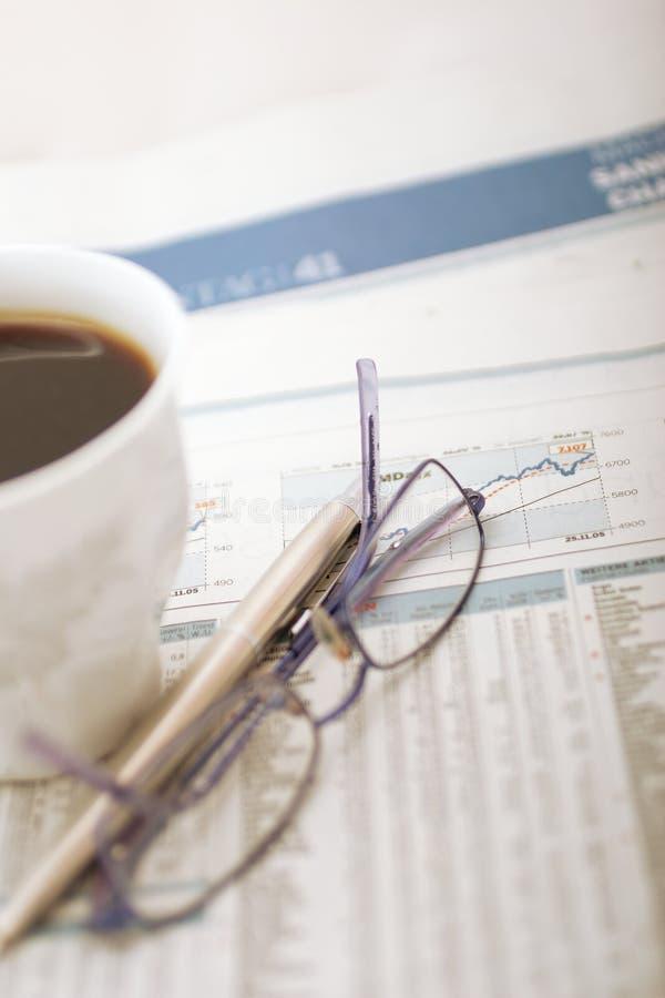 Financieel bureau stock foto's