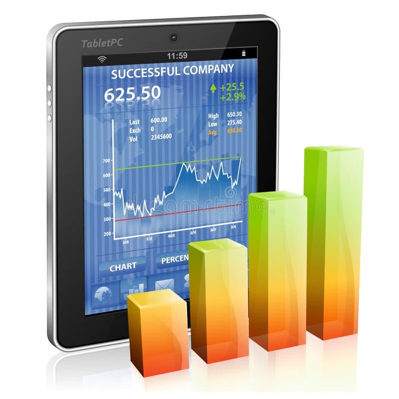 Financieel Concept - maak Geld op Internet vector illustratie