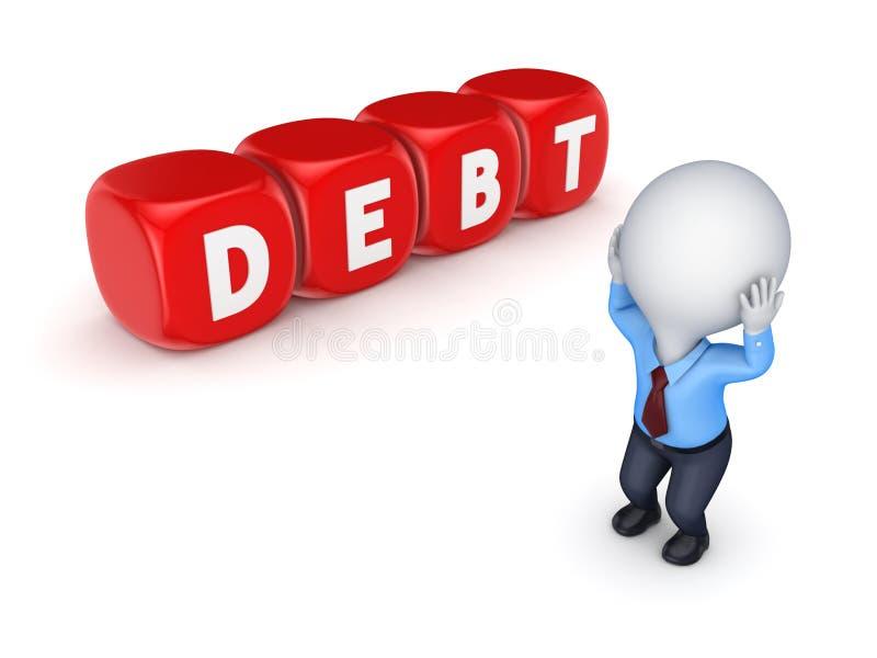 Financieel crisisconcept. stock illustratie
