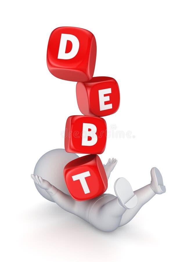 Financieel crisisconcept. vector illustratie