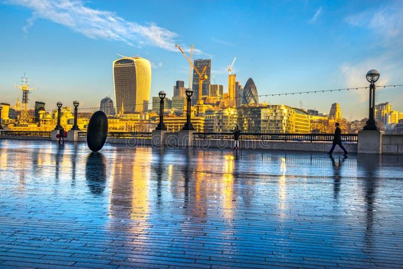 Financieel district, Londen, het UK royalty-vrije stock afbeelding