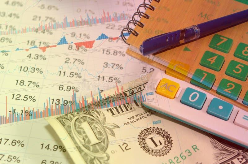 Financieel en Geld royalty-vrije stock foto's