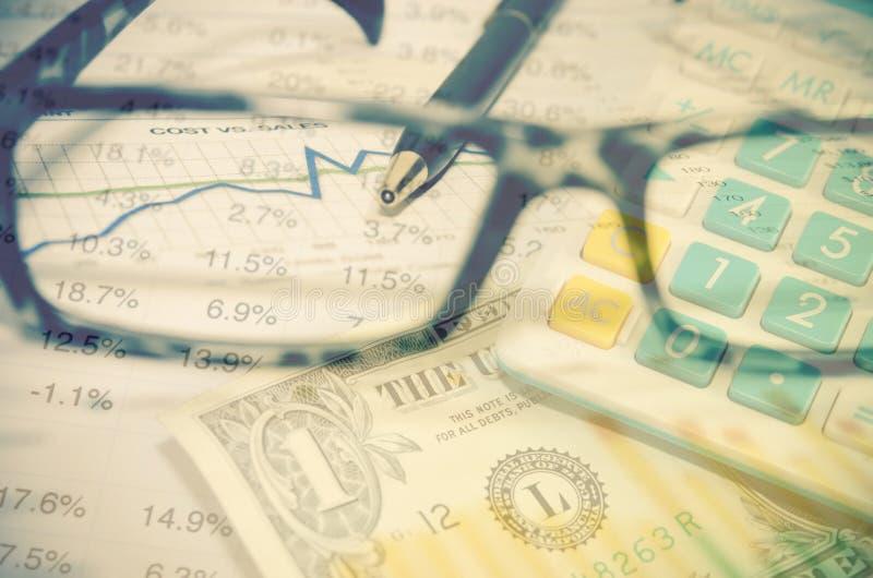 Financieel en Geld stock afbeelding