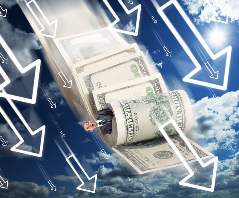 Financieel faillissement royalty-vrije stock afbeeldingen