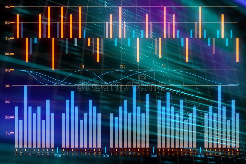 Financieel grafiekconcept royalty-vrije illustratie