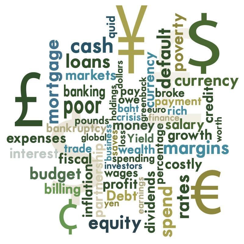 Financieel grafisch woord royalty-vrije illustratie