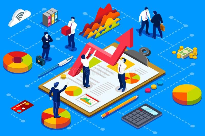 Financieel het beleidsconcept van de bedrijfrekening royalty-vrije illustratie