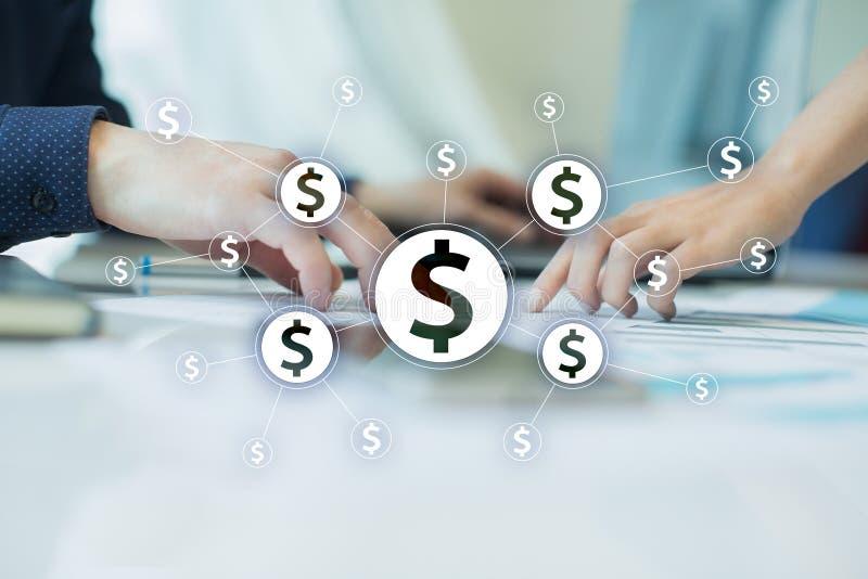 Financieel netwerk en crowdfunding concept Fintech Zaken en financieel concept royalty-vrije stock afbeelding