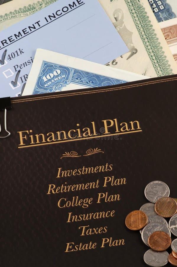 Financieel plan stock foto