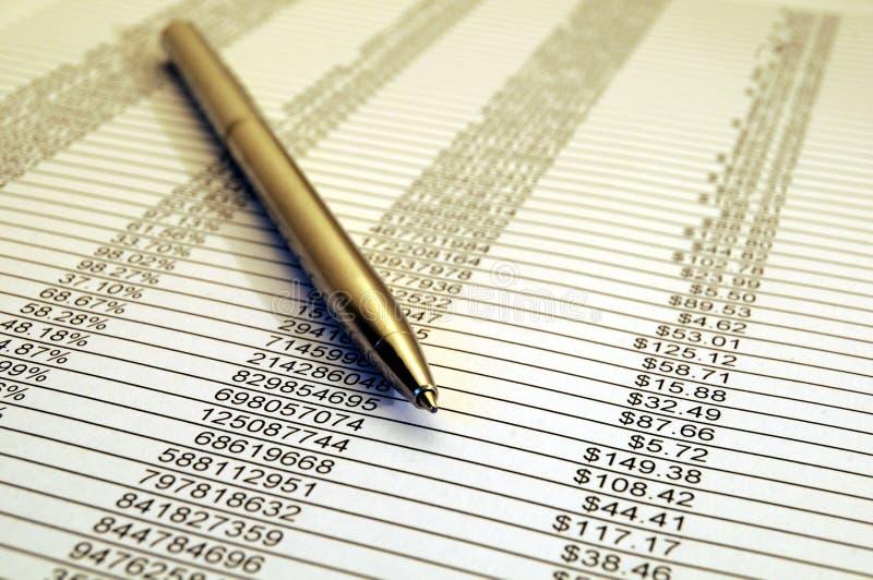 Financieel Rapport 02 stock afbeelding