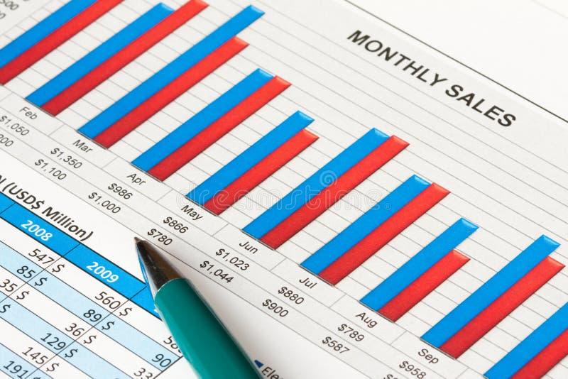 Financieel rapport stock foto