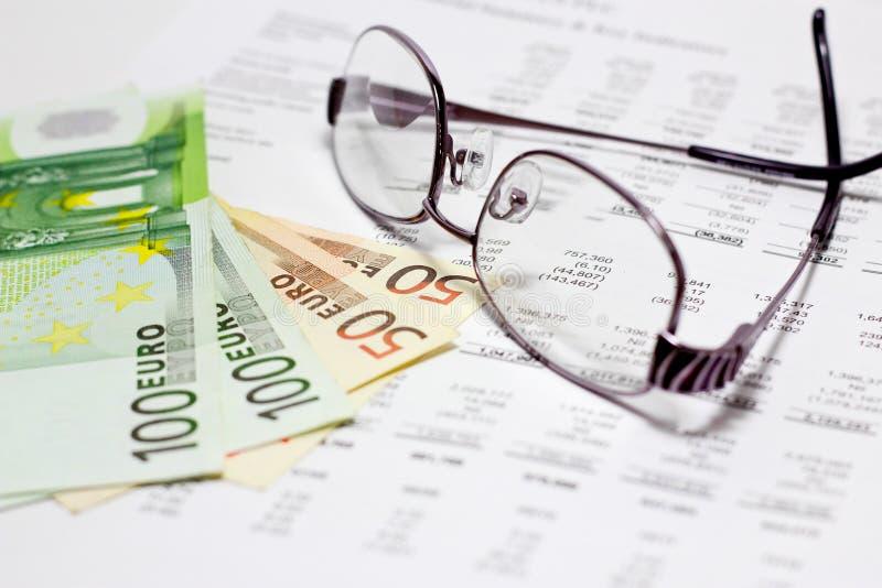 Financieel rapport stock fotografie