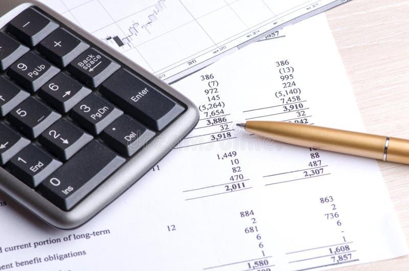 Financieel rapport royalty-vrije stock afbeelding