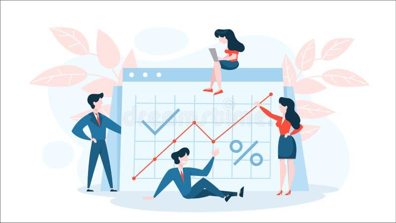 Financieel verhogingsconcept Idee van de geldgroei vector illustratie