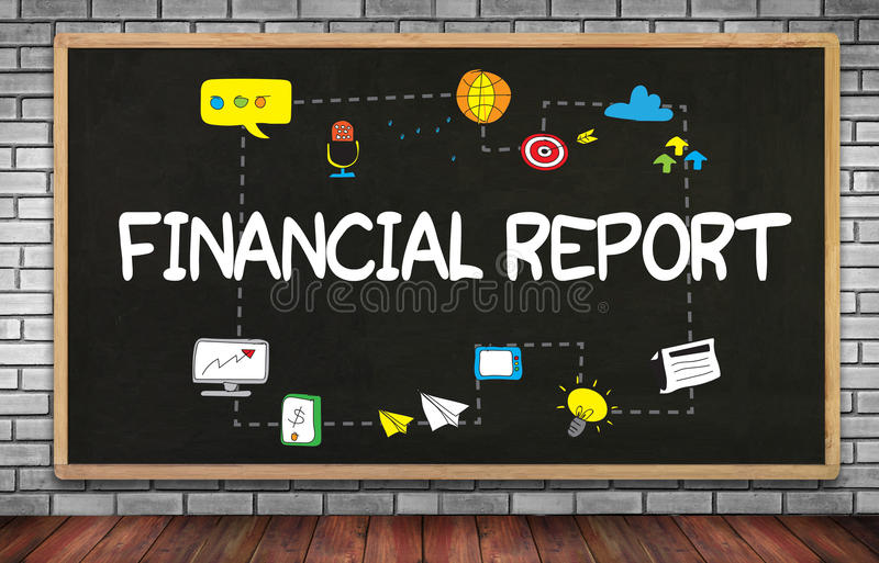 Financieel verslag (de Groeianalyse van het Geldcontante geld) stock foto