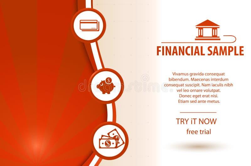Financier achtergrond vector illustratie