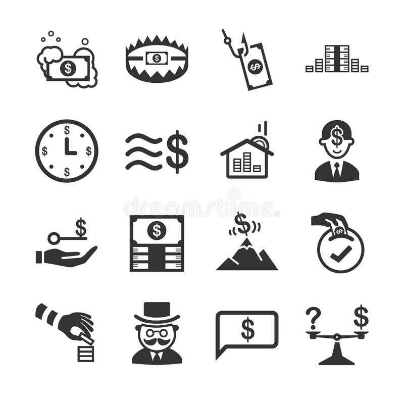 2 financiers illustration de vecteur
