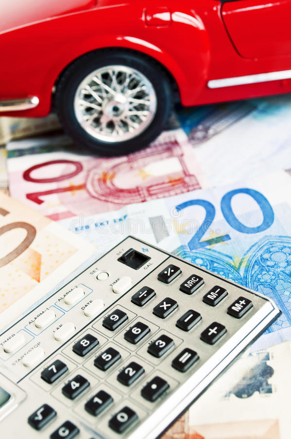 Financing car - concept royalty free stock image