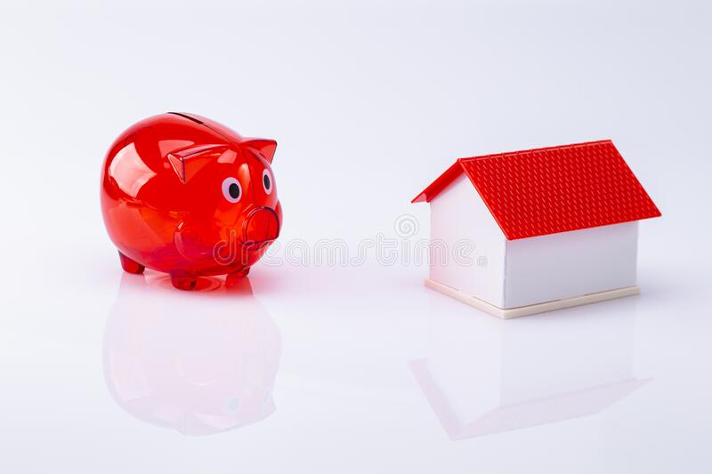 Financing house building royalty free stock photos