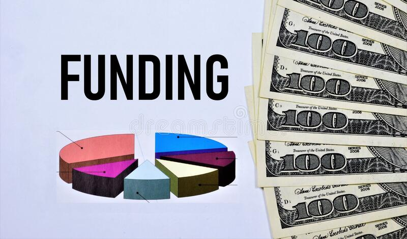 Financing - provision of funds, financial resources on a paid or gratuitous basis royalty free stock photo