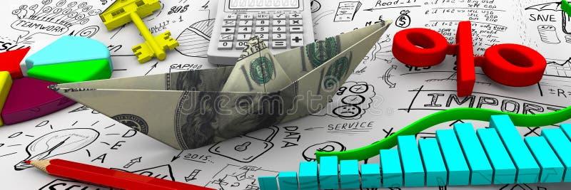 Finans affärslivstid fortfarande royaltyfri illustrationer