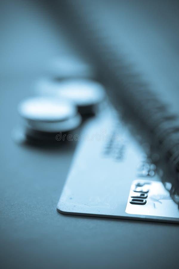 finans för kortbegreppskreditering royaltyfri fotografi