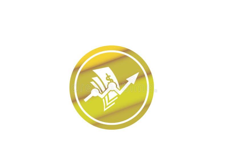 Finans för pengarpildiagram för logodesignillustrationen i formsymbolen stock illustrationer