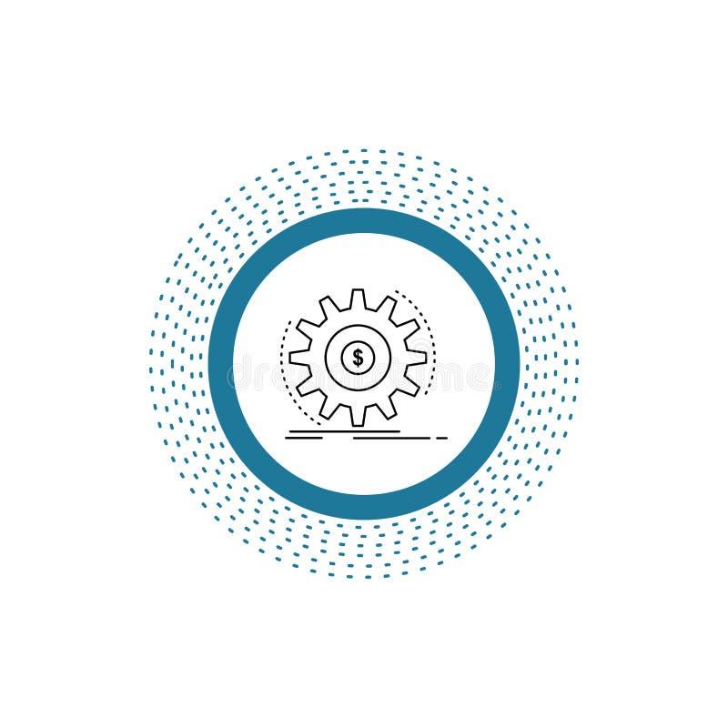 Finans flöde, inkomst, danande, pengarlinje symbol Vektor isolerad illustration stock illustrationer