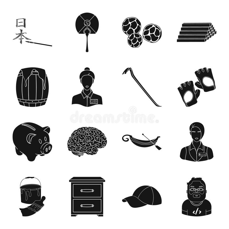 Finans, medicin, yrke och annan rengöringsduksymbol vektor illustrationer
