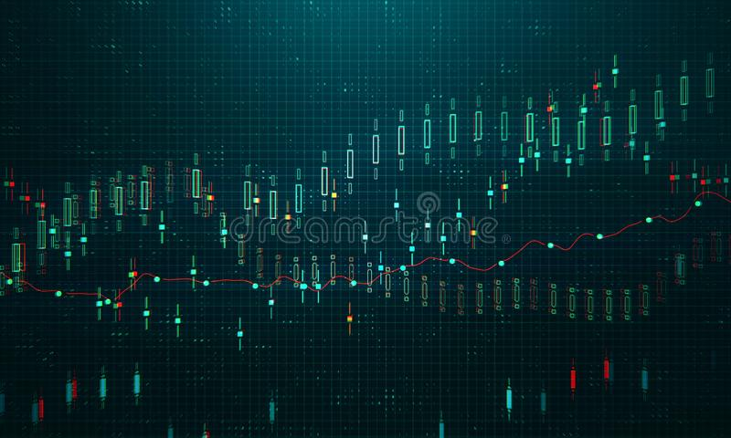 Finans- och handelbegrepp stock illustrationer