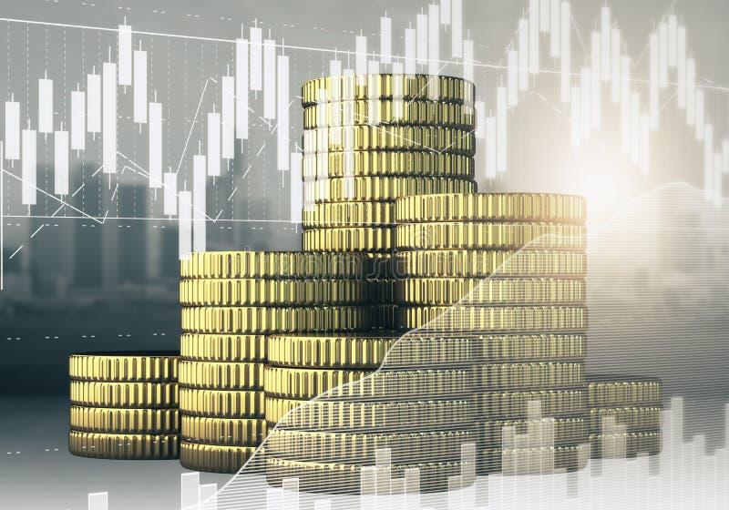 Finans- och inkomstbegrepp royaltyfri illustrationer