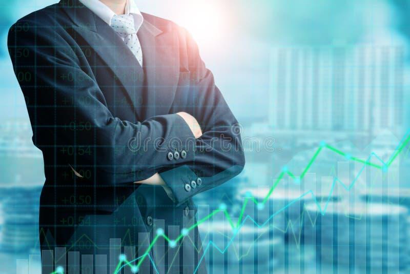Finans- och investeringbegrepp arkivbild