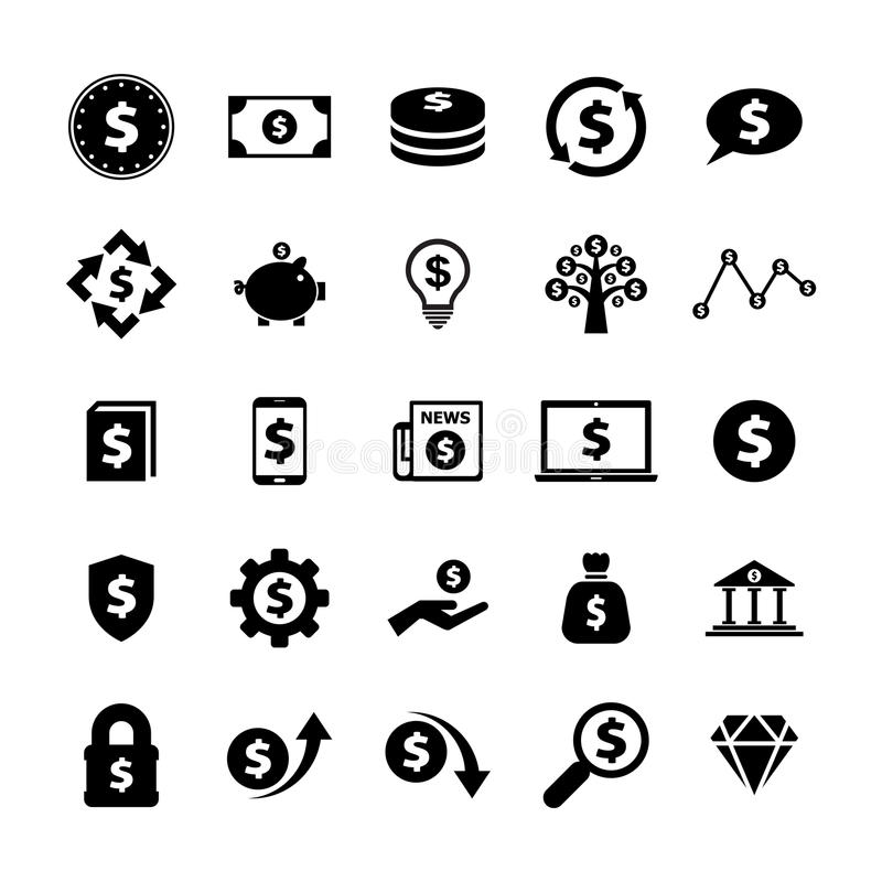 Finans och pengarsymbol arkivfoto