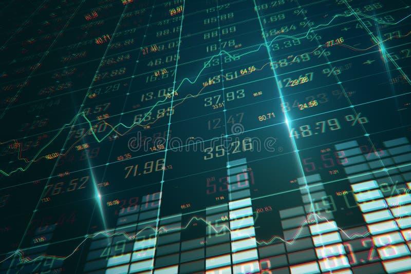 Finans och statistik-begrepp royaltyfri illustrationer