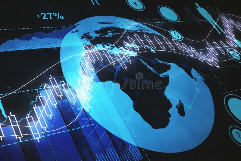 Finans- och världsekonomibegrepp vektor illustrationer