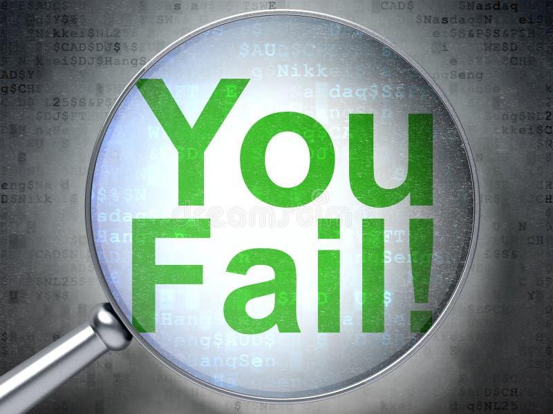 Finansbegrepp: Du missar! med optiskt exponeringsglas royaltyfri foto