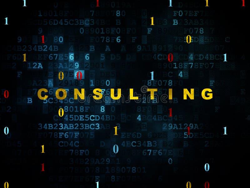 Finansbegrepp: Konsultera på Digital bakgrund royaltyfri illustrationer
