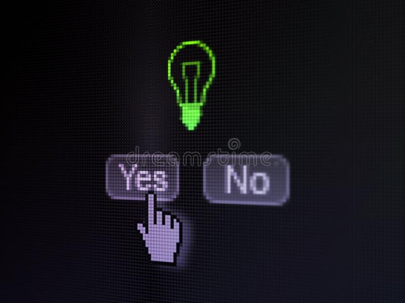Finansbegrepp: Ljus kula på skärmen för digital dator arkivfoto