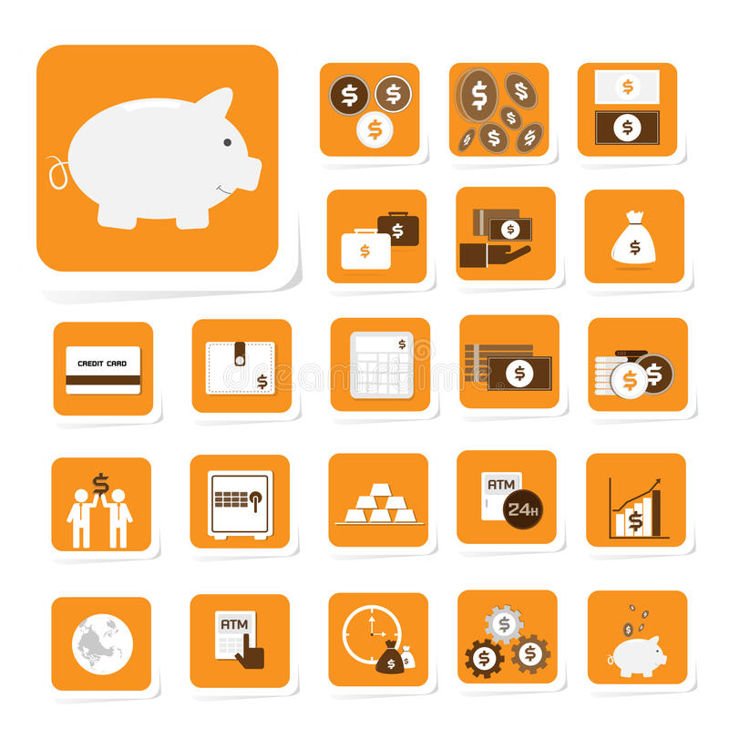 Finanse i pieniądze ikona royalty ilustracja