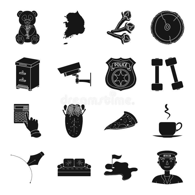 Finanse, medycyna, kucharstwo i inna sieci ikona w czerni, projektujemy ilustracji