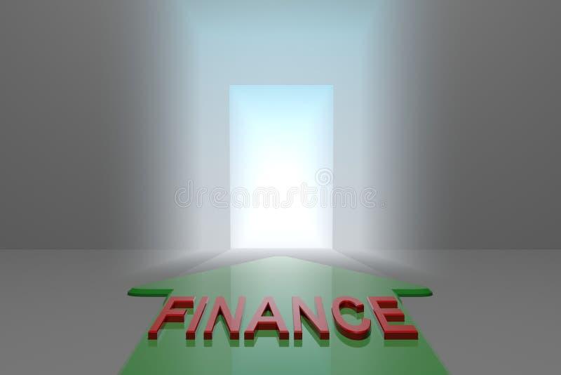 Finanse otwarta brama royalty ilustracja