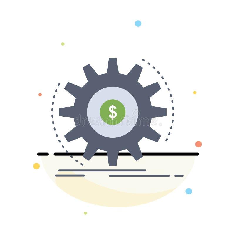 Finanse, przepływ, dochód, robi, pieniądze koloru ikony Płaski wektor ilustracja wektor