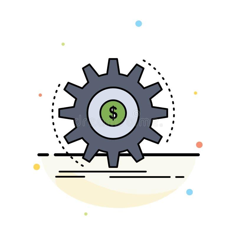 Finanse, przepływ, dochód, robi, pieniądze koloru ikony Płaski wektor royalty ilustracja