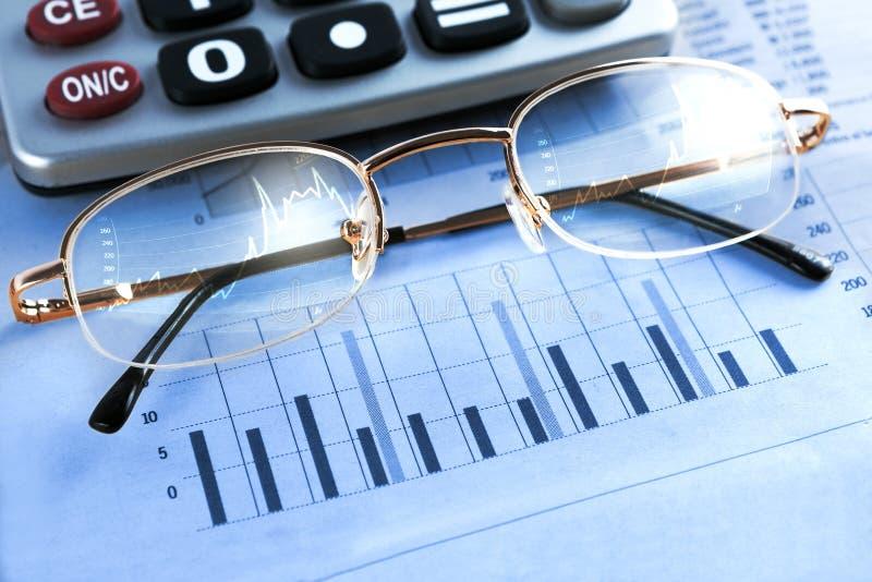 Finanser och ekonomisk bakgrund arkivbild