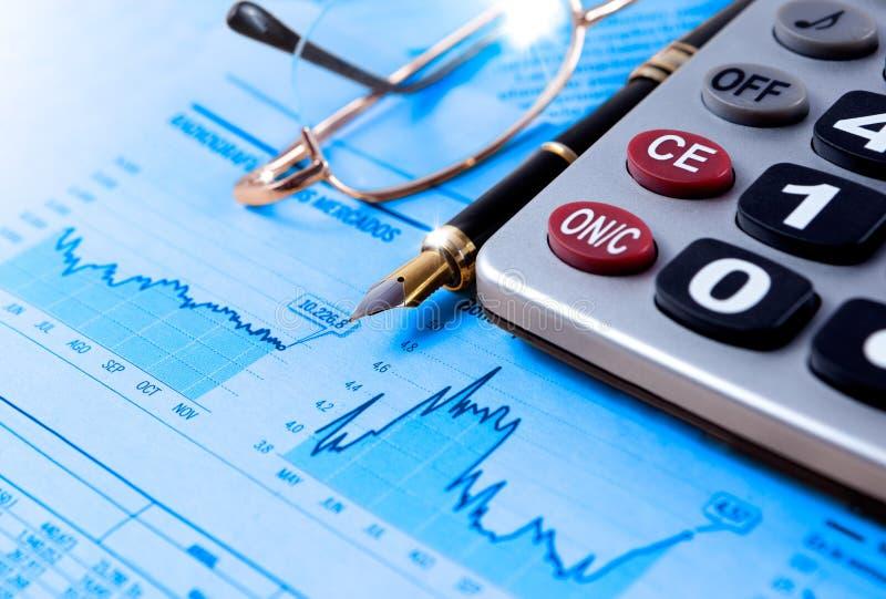 Finanser och ekonomisk bakgrund royaltyfri bild