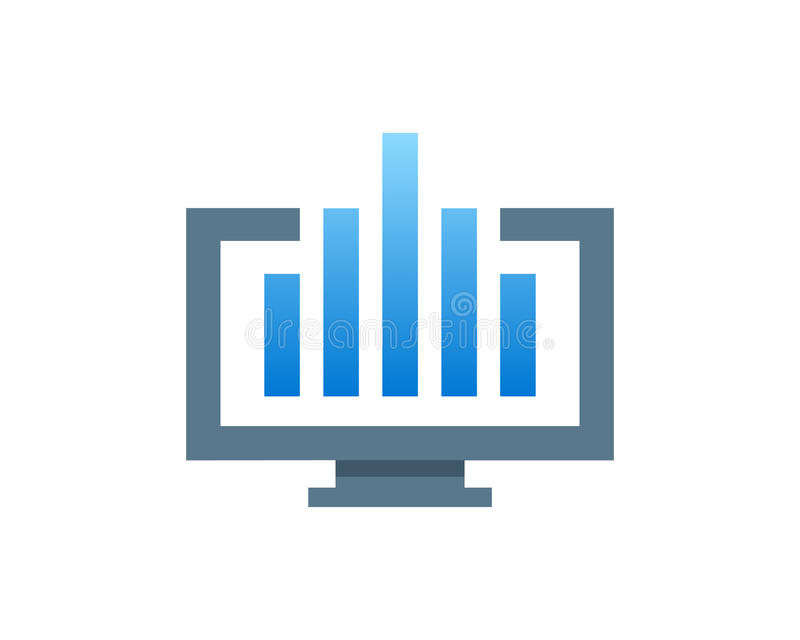 Finansiell övervakningillustration vektor illustrationer